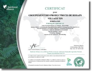 Rainforest Alliance Certificate